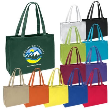 Promo Full Color Imprint Non-Woven Shopper Tote Bag