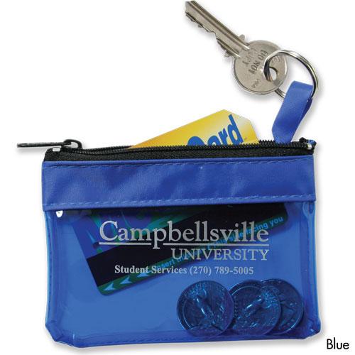 USA Key Ring Zippered Translucent Pouch