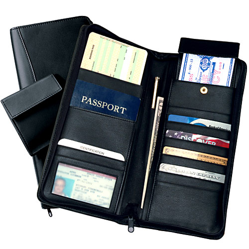 2013 Leather Promotional Passport Wallet