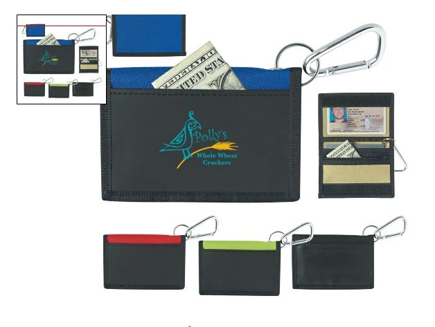 Promotional stylish Wallet w/ Carabiner
