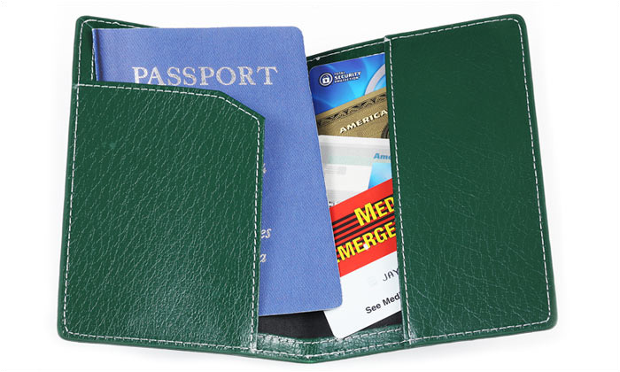 Leather Passport Cover USA promotion