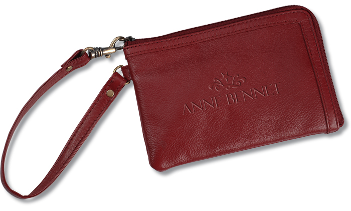 Leather Wristlet for Custom Logo