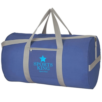 Logo Printed Duffle Bag