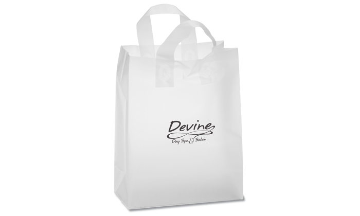 Soft-Loop Promotion Frosted Clear Shopper
