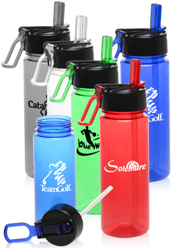 Promotional 22 oz. Plastic Sports Bottles
