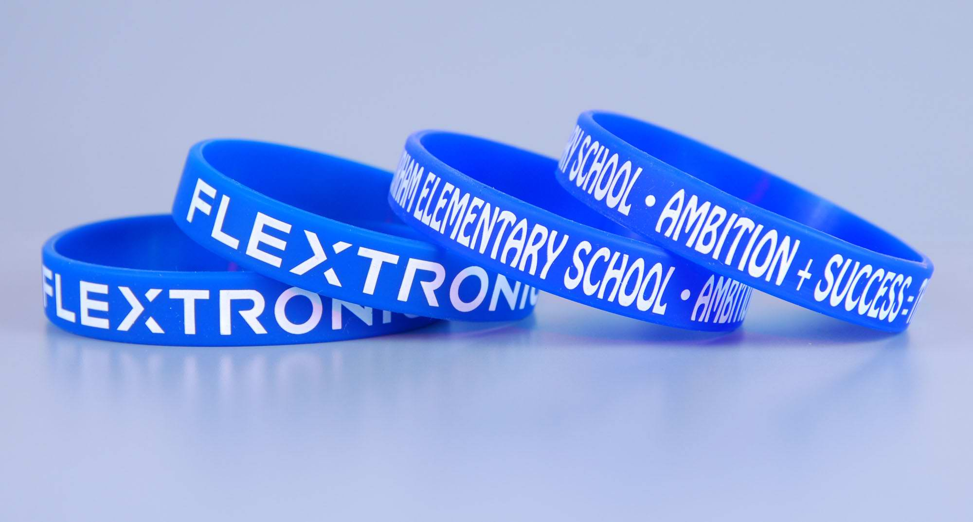 Custom shape silicone bracelets for school