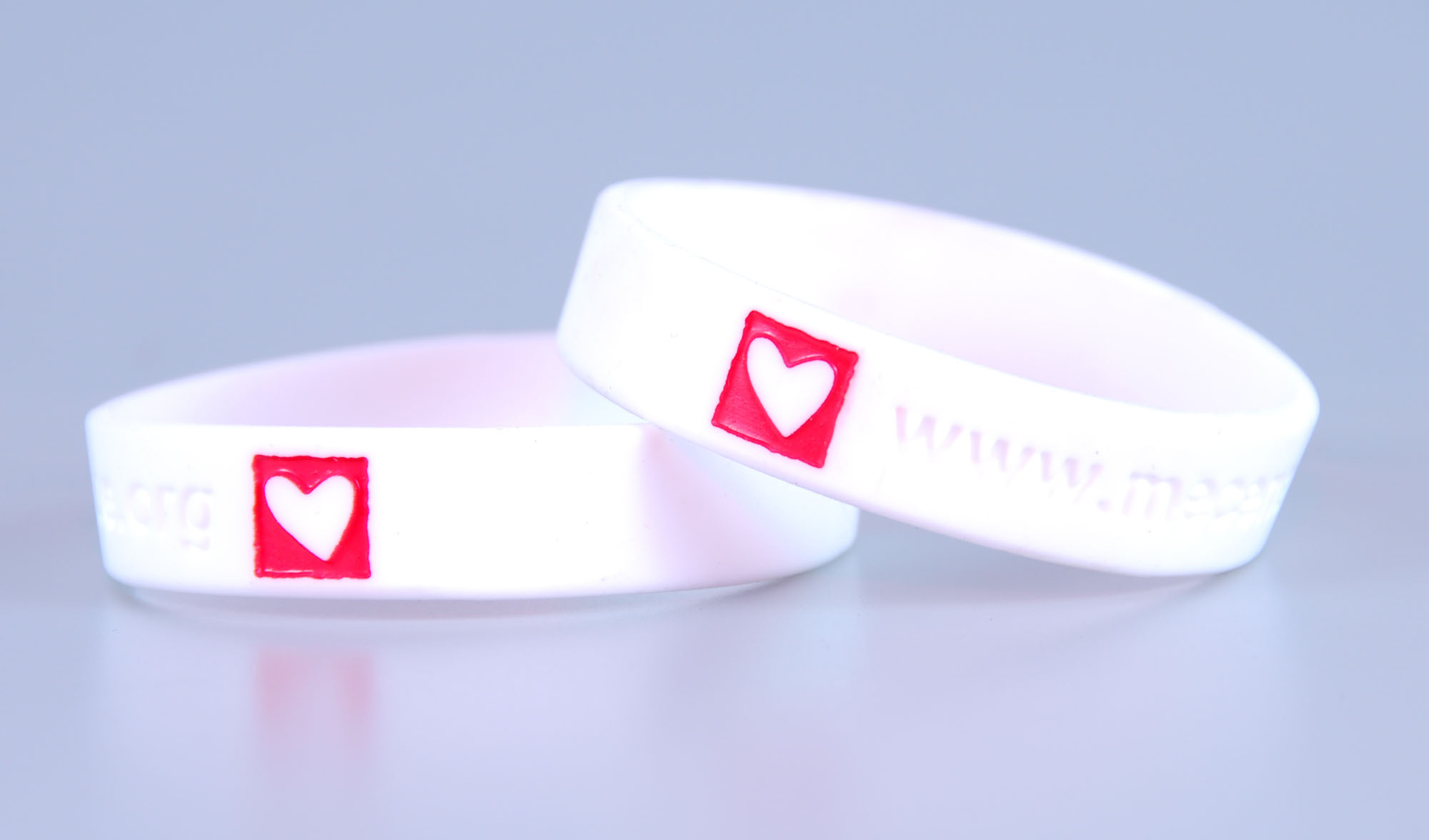 Customised rubber bracelets for money raising