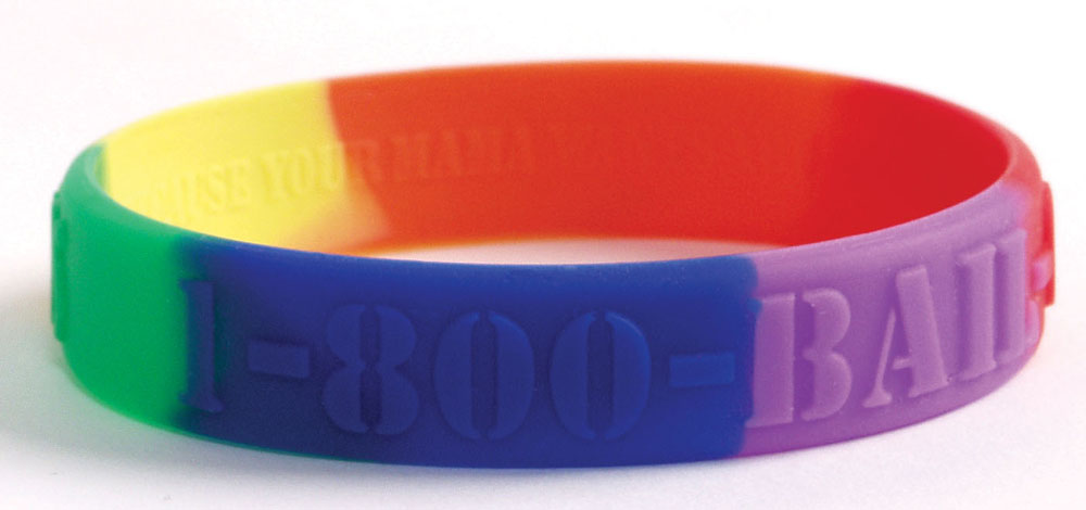 UK Embossed silicone bracelets