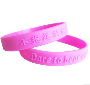 For party Custom embossed logo wristbands
