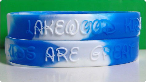 Custom silicone wristbands with embossed logo