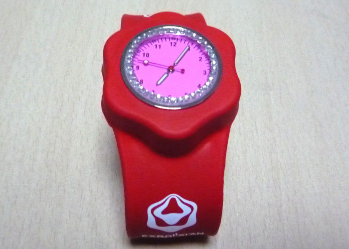 Silicone watch with custom logo