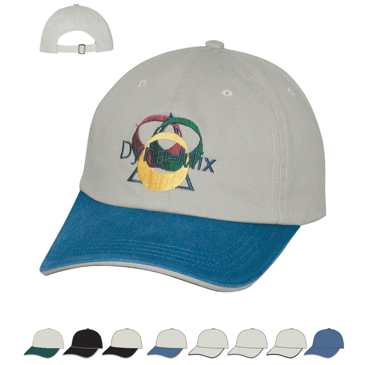 6 panel cotton chino sandwich cap
