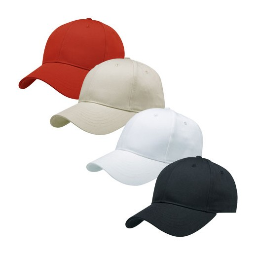 Plain 6 panel cotton low profile structured cap