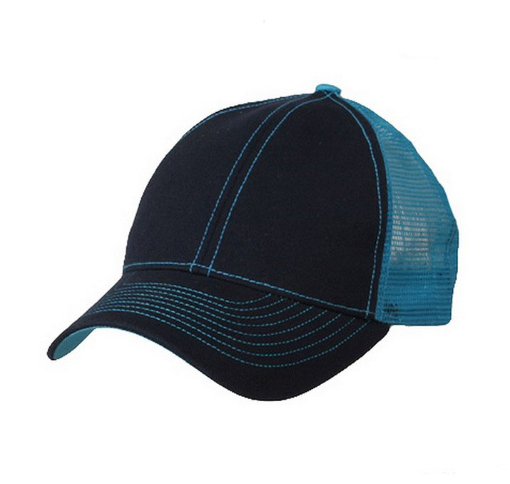 Plain Mesh back cap features 6 panel construction