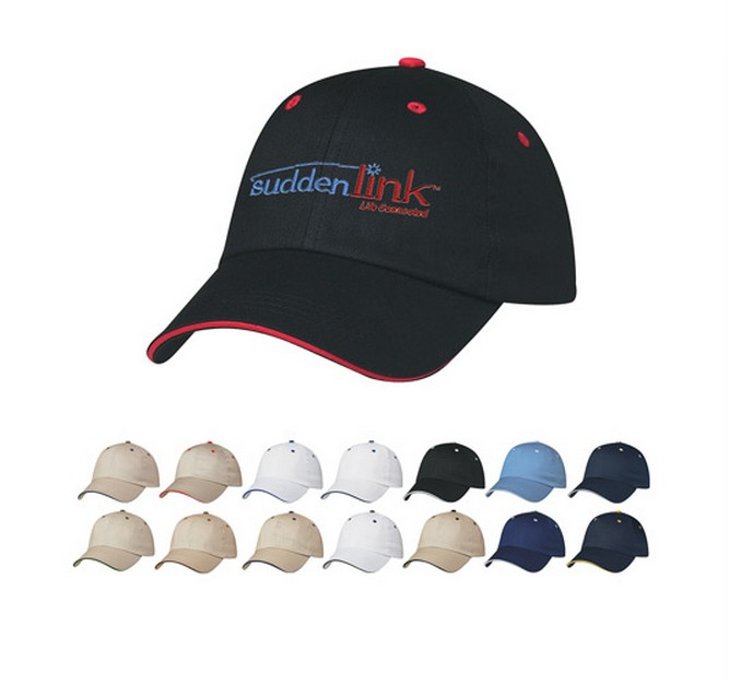 Golf 6 panel cotton sandwich cap