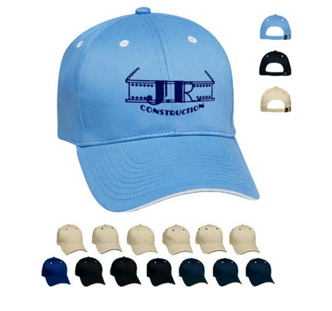 Sandwich 6 panel structured cap