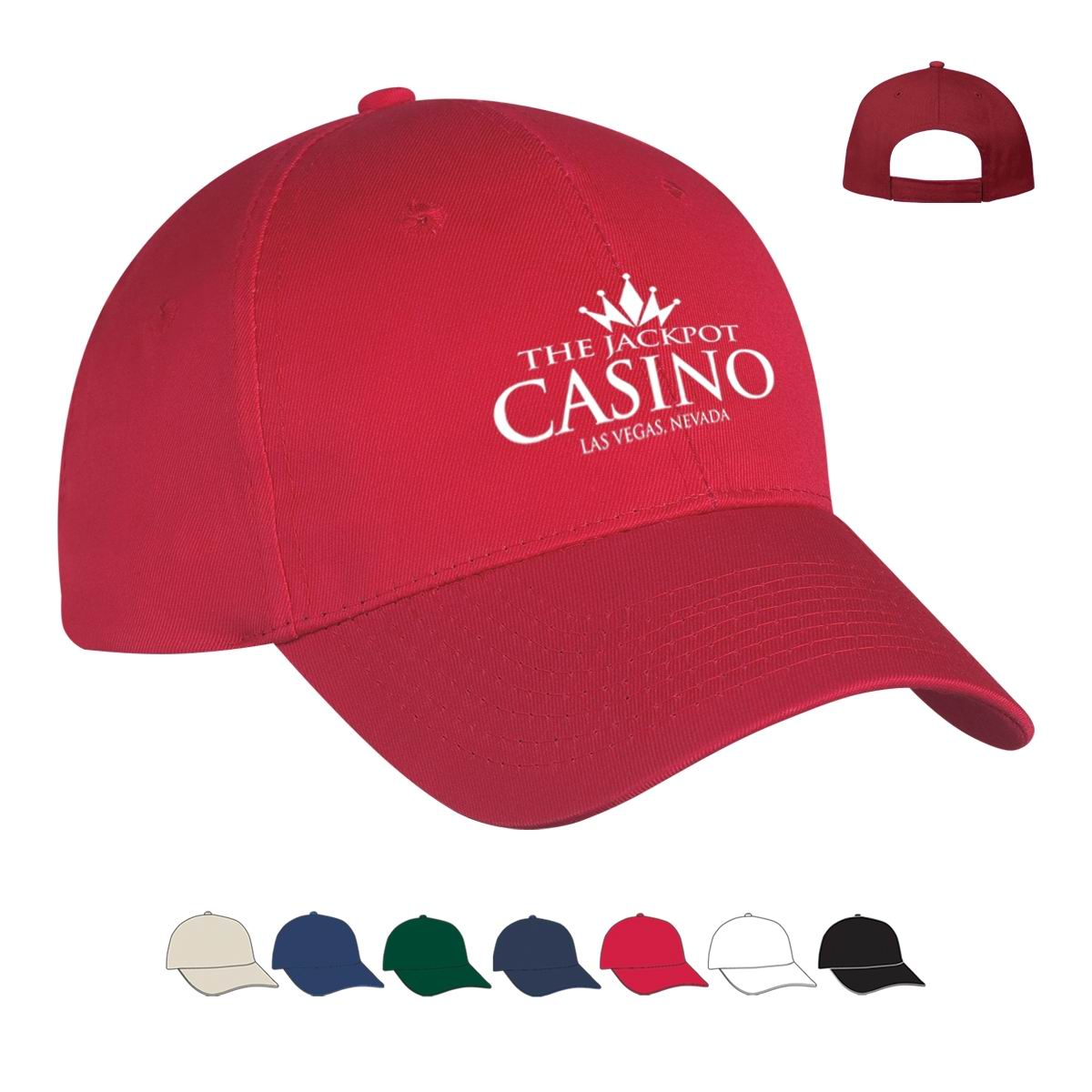 Casino 6 panel polyester cap