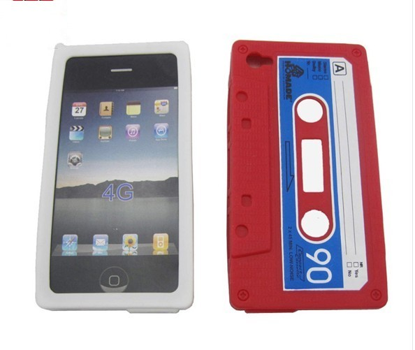 CASSETTE RETRO TAPE SILICONE COVER CASE FOR IPHONE 4/4G