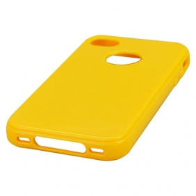 Simple Soft TPU Back Cover Case For iPhone 4G/4S - Yellow