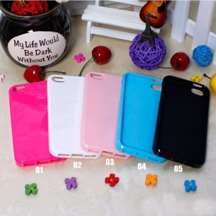 Amazing New Fashion Colorful Jelly Soft TPU Case Cover for iPhon