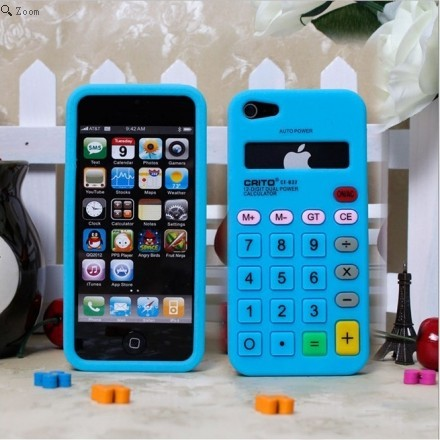 Amazing Creative Retro Stereo Calculator Silicone Case Cover for