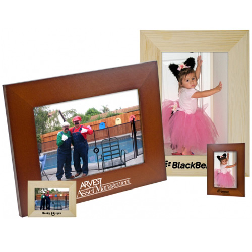 "5""x7"" Family double stand wood frame"
