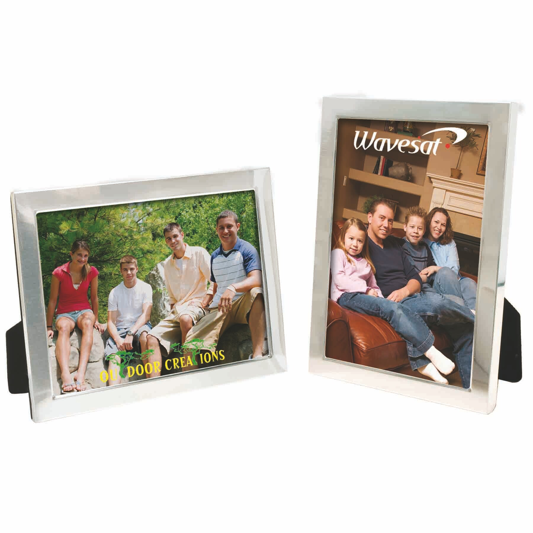 "8""x10"" picture frame with black velvet back"