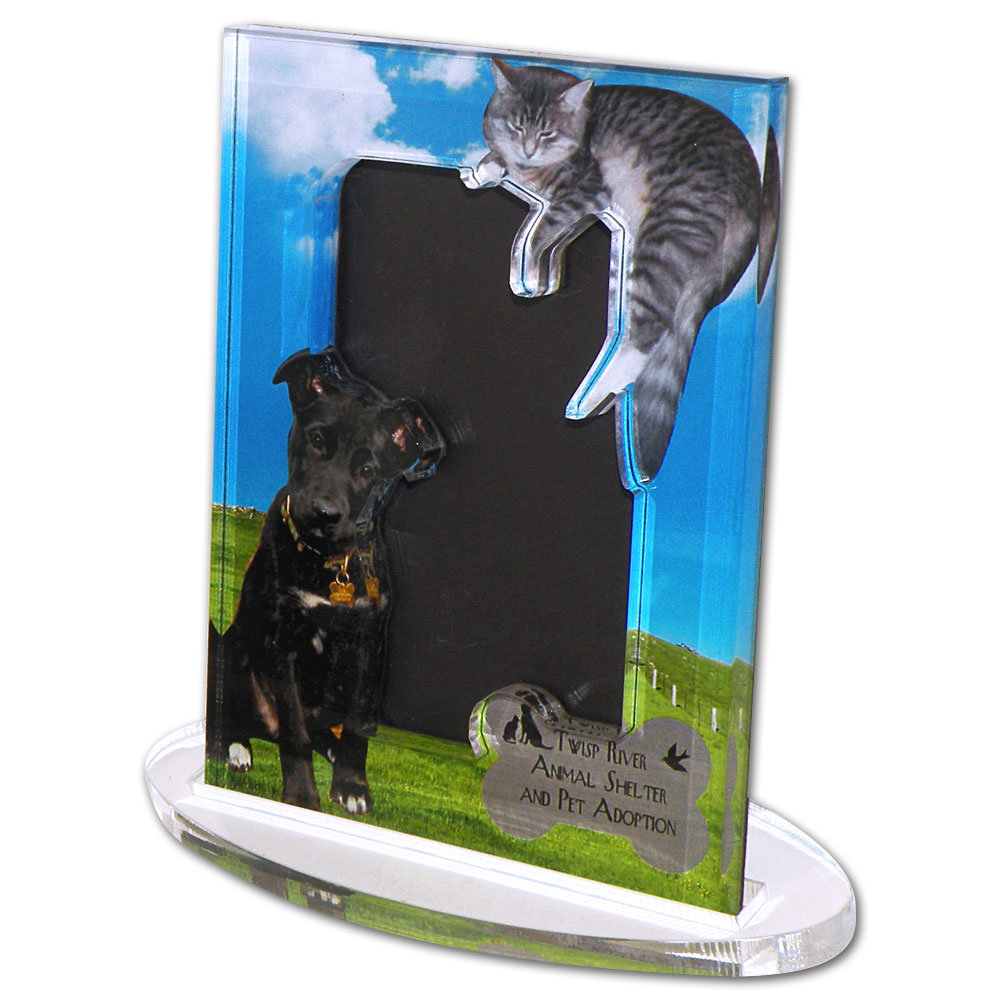 Custom acrylic desk picture frame