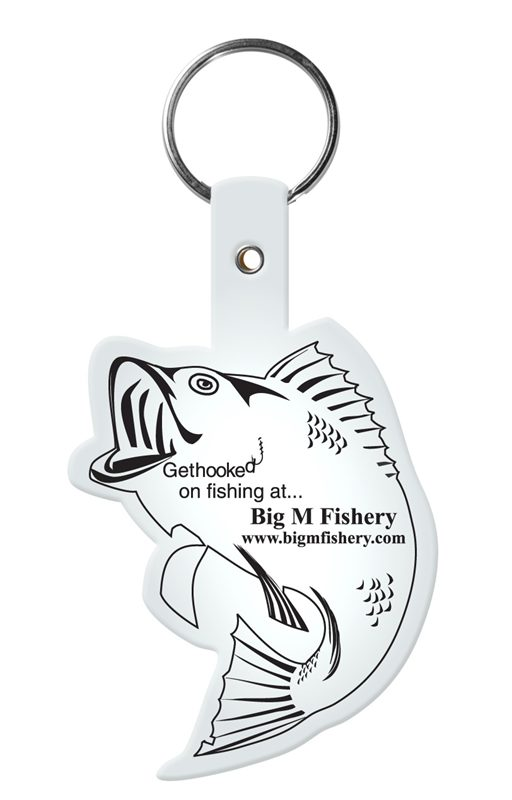 Retractable fish key chain