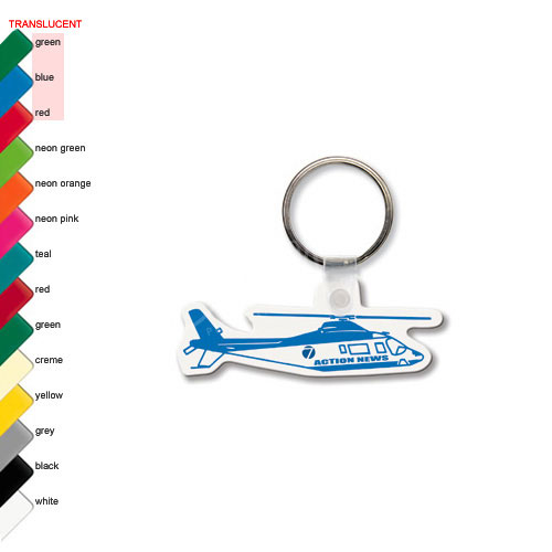 Decorative helicopter shaped fob