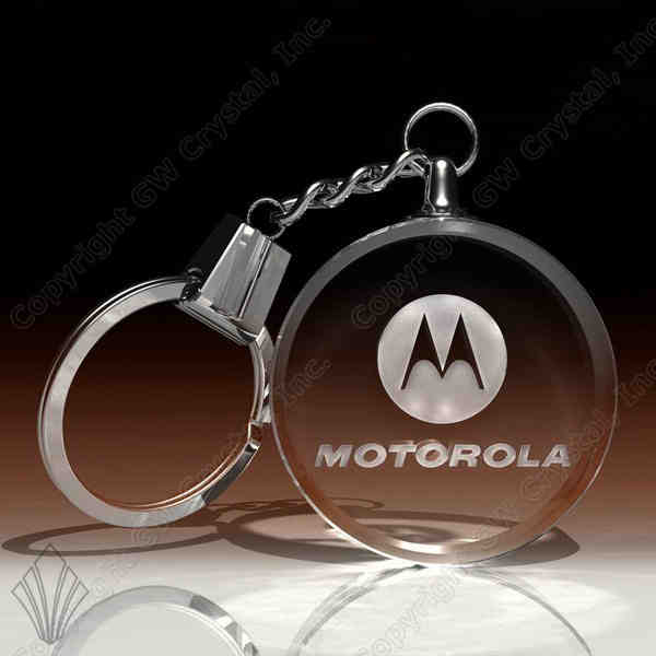 Optical glass engraved keychain