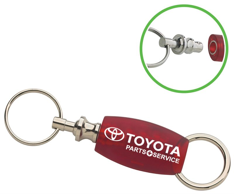 2 set plastic key chains