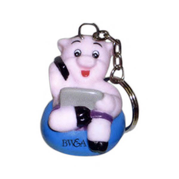 Custom pig shaped key tags