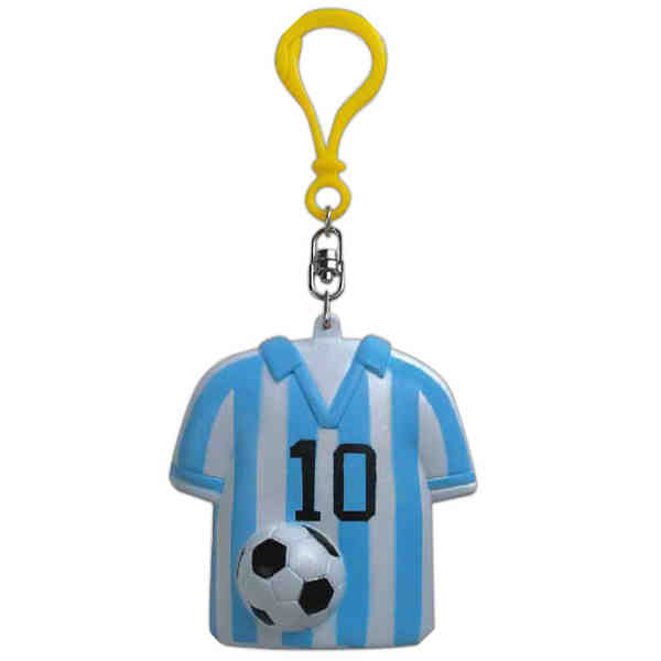 Soccer shirt rubber keychains