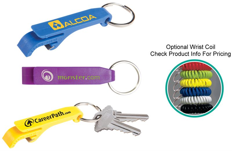 Personalized bottle opener valet key holder