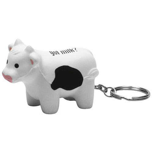 Milk cow key chain stress reliever