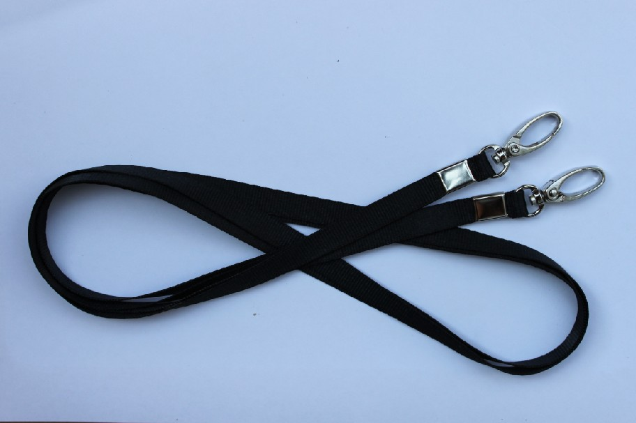 Polyester lanyard with nickel plated swivel oval hook