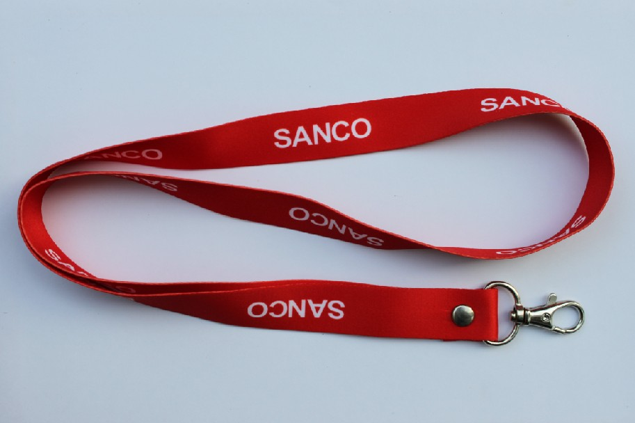Polyester lanyard with metal 360 degree swivel lobster claw clip