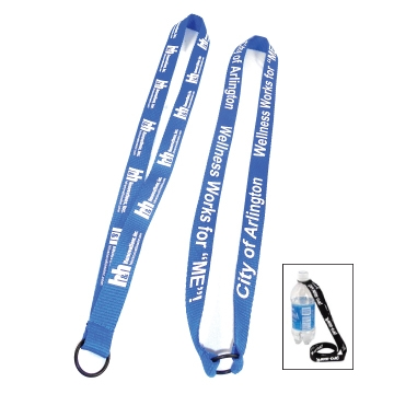 "3/4"" water bottle lanyard"