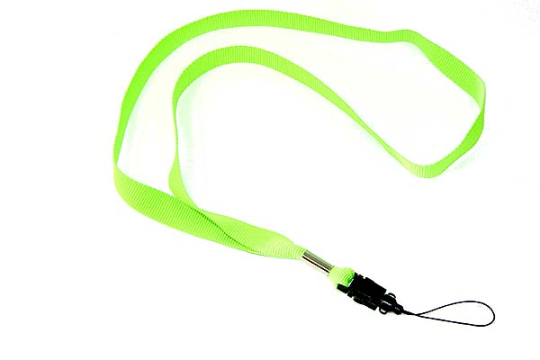 Green mobile phone string lanyard