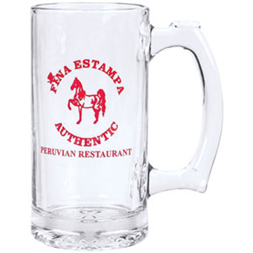 Glass beer mugs personalized