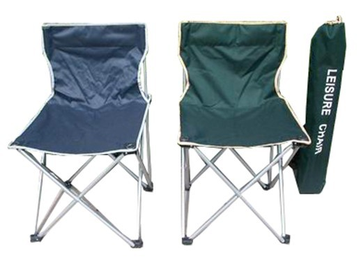 Folding chair with a cup holder on each arm.