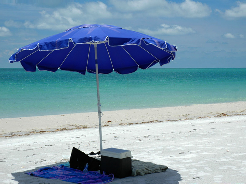 Custom umbrella for beach