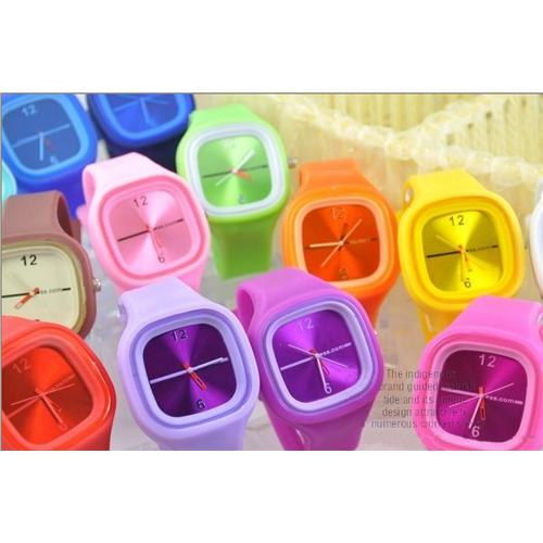 Colorful silicone quartz watch