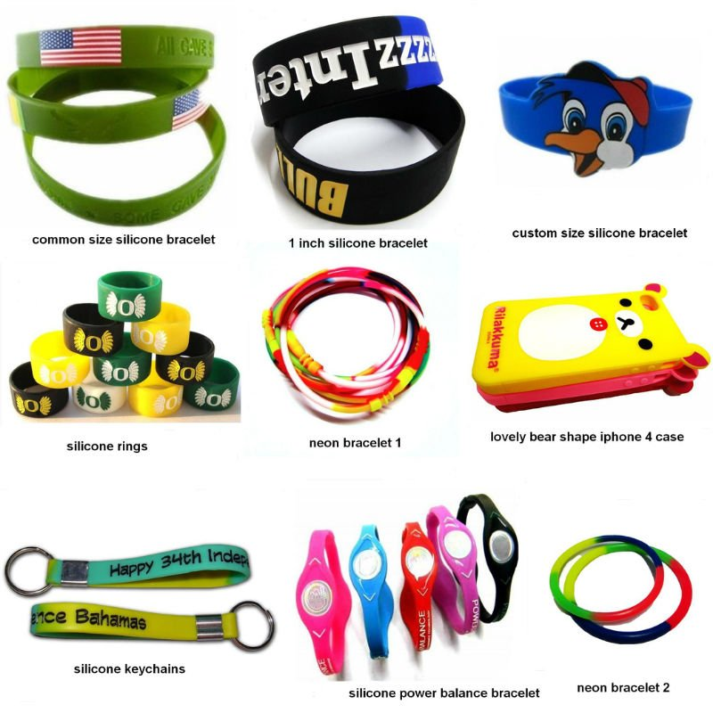 Custom Made Promotional Silicone Items