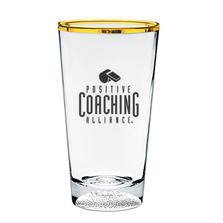 Sport Bottom Pint Glass, 16oz. - Football