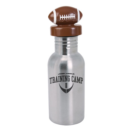 Stainless Bottle w/ Football Lid, 17oz.