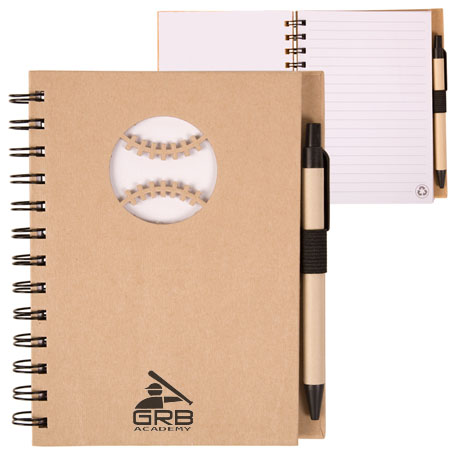 Recycled Die Cut Baseball Notebook