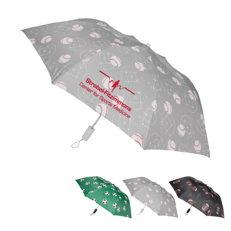"Sports League Auto Open Umbrella, 44"" Arc"