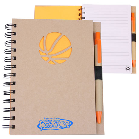 Recycled Die Cut Basketball Notebook